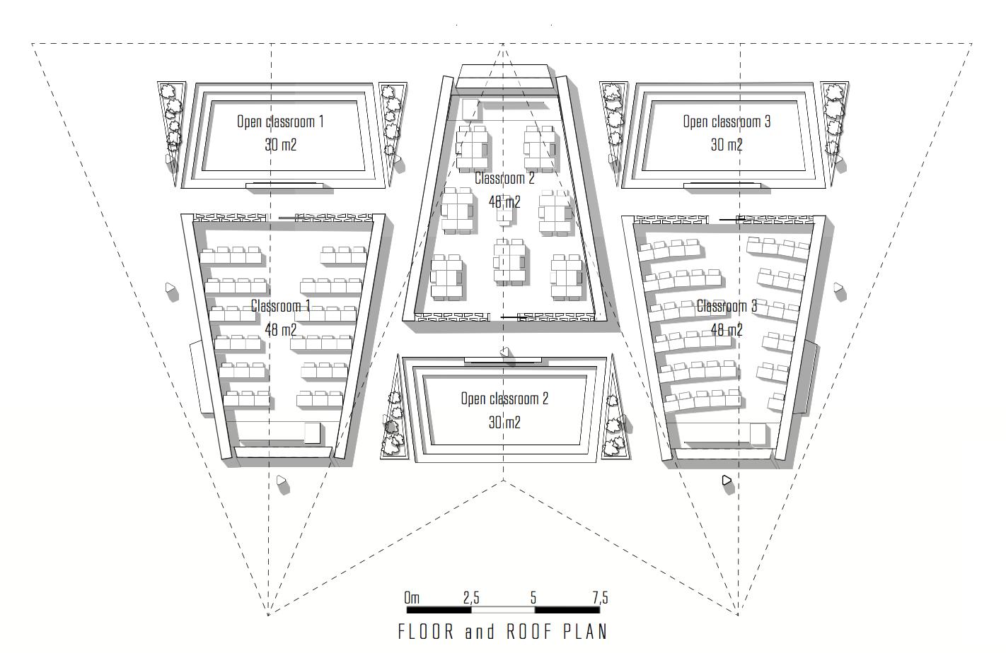 plan du projet human architecteshuman architectes. Black Bedroom Furniture Sets. Home Design Ideas